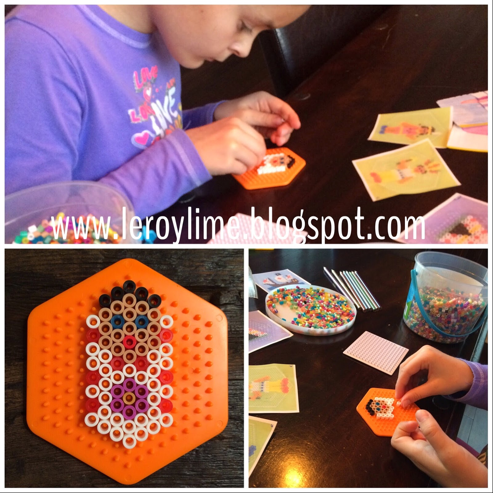 Thanksgiving Perler Bead Craft - Kid Craft - LeroyLime