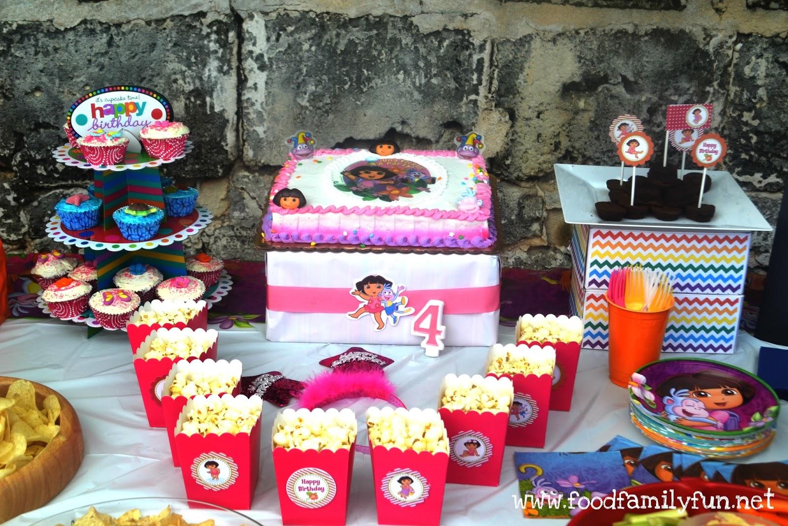 Food Family Fun Dora the Explorer Birthday Party on a budget