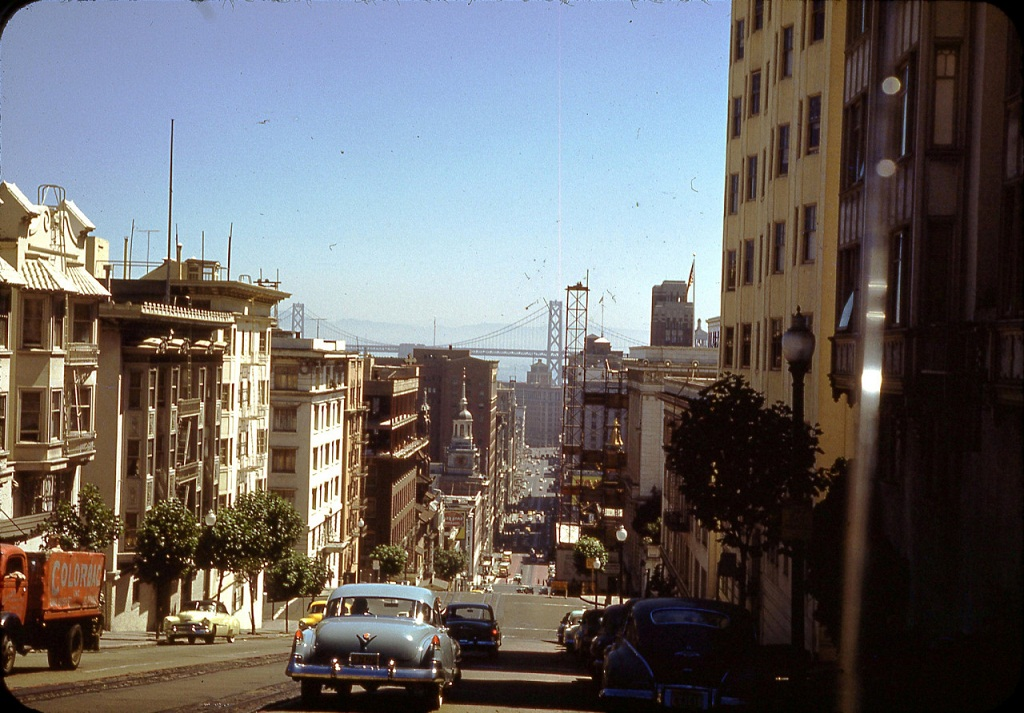 Streets of San Francisco in the 1950s