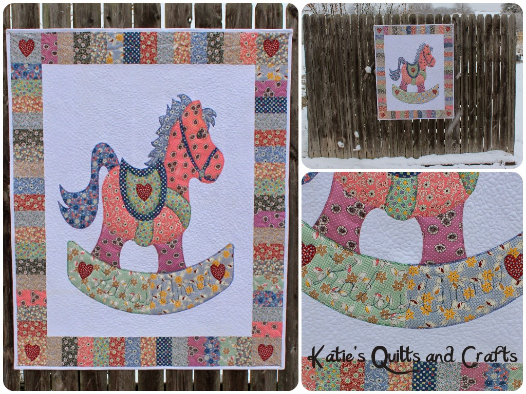Katies Quilts And Crafts Rocking Horse Baby Quilt