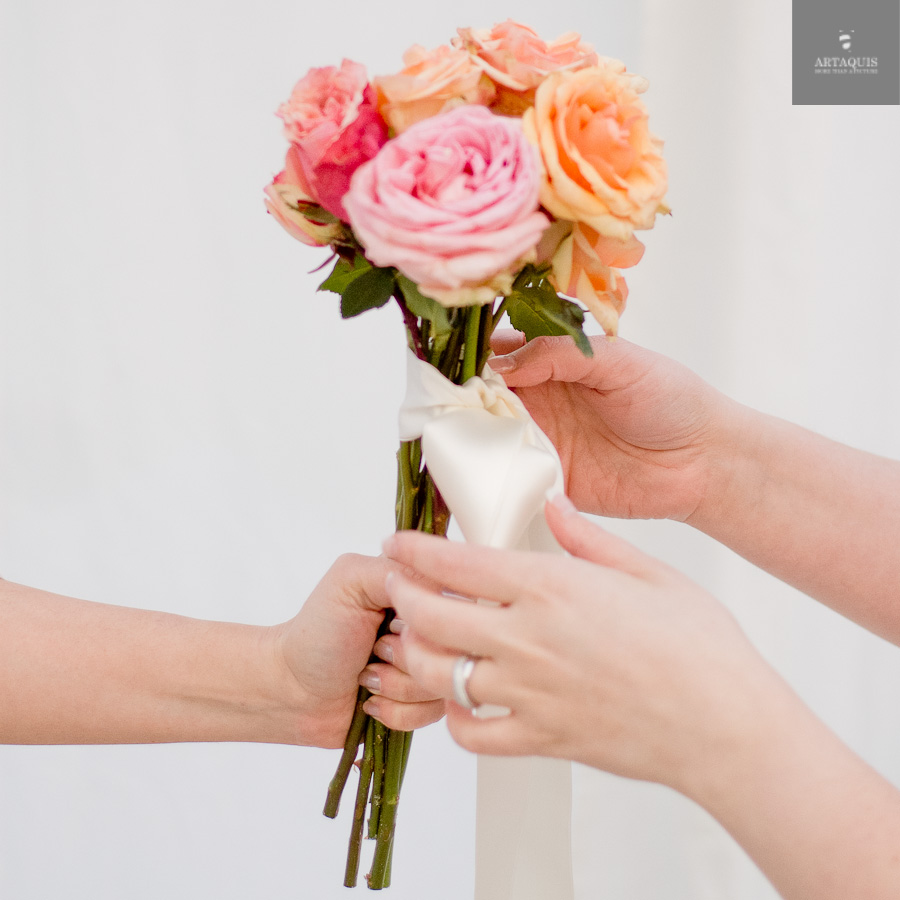A DIY bouquet tutorial with fourseasons dekoration - 12