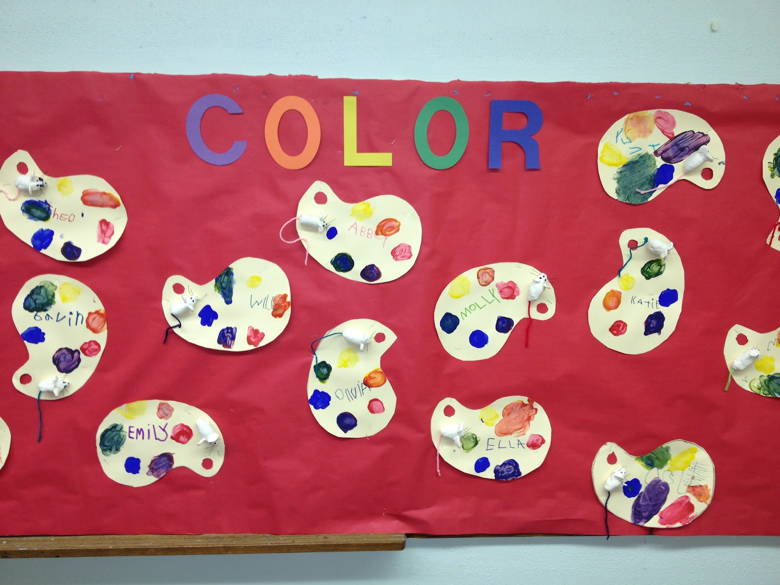Our Color Bulletin Board Before I Put A Border Up