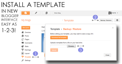 Upload Template New Blogger Interface