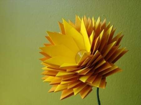 Origami Sun Shining The Weather Is Sweet 3D