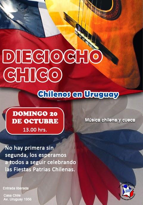Dieciocho chico 2013 el 20 de Octubre 13.00hrs. en Casa Chile