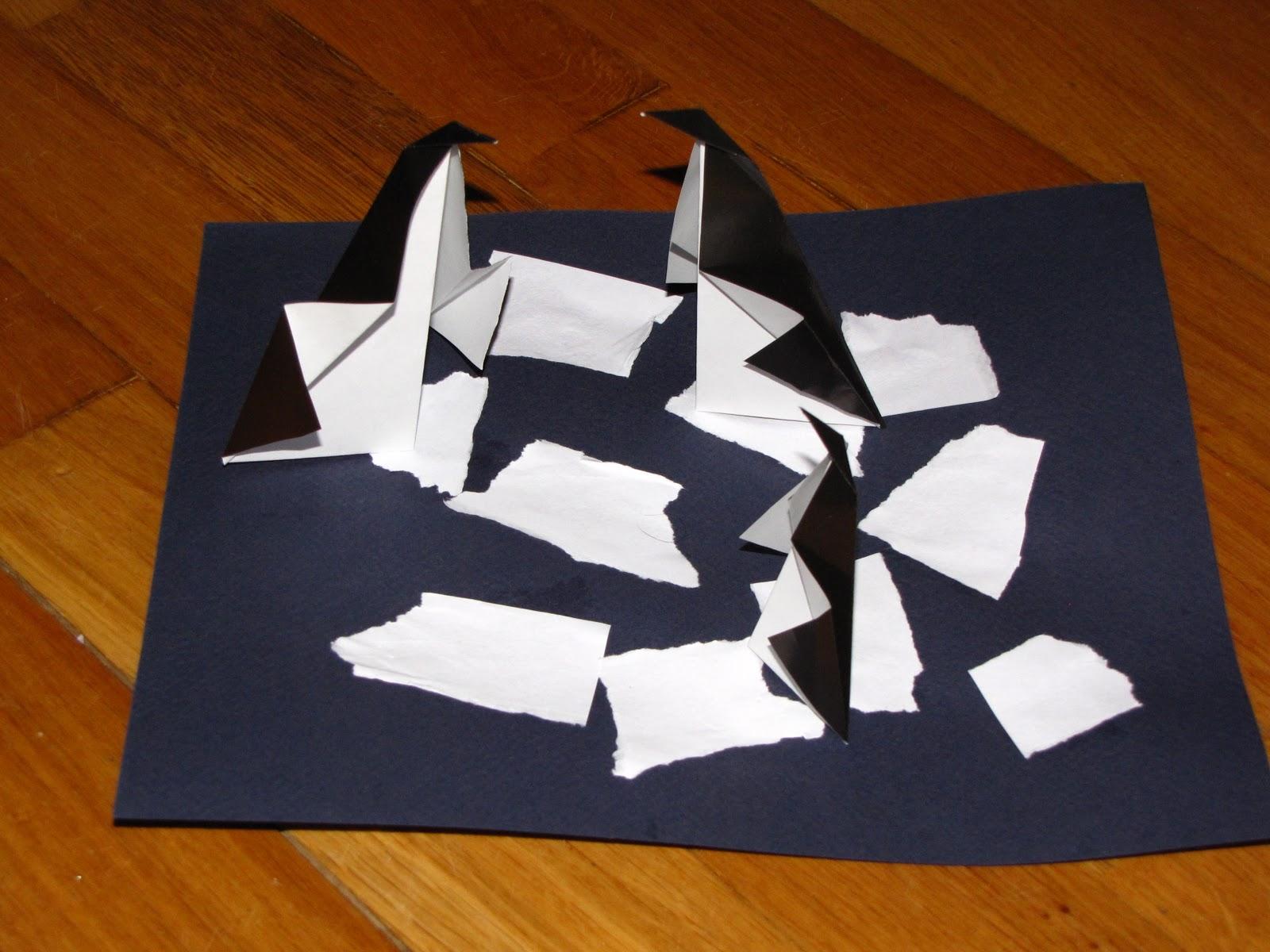 Как сделать пингвина из бумаги пошаговое