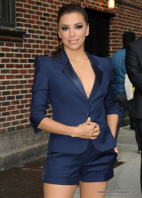 Eva Longoria - late show with David Letterman in New York