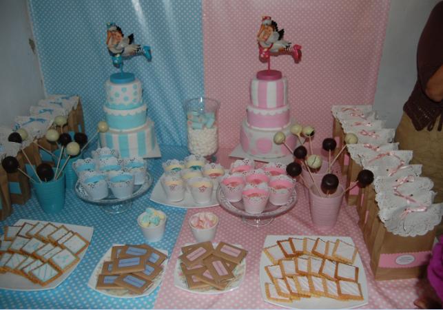 Dulces y tartas mesa dulce bautizo for Mesa de chuches bautizo