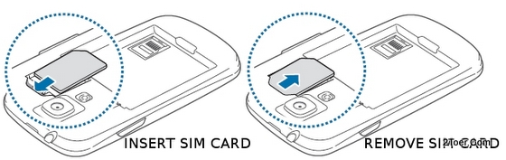 Insert SIM Card Remove Samsung Galaxy S3 mini GT I8190