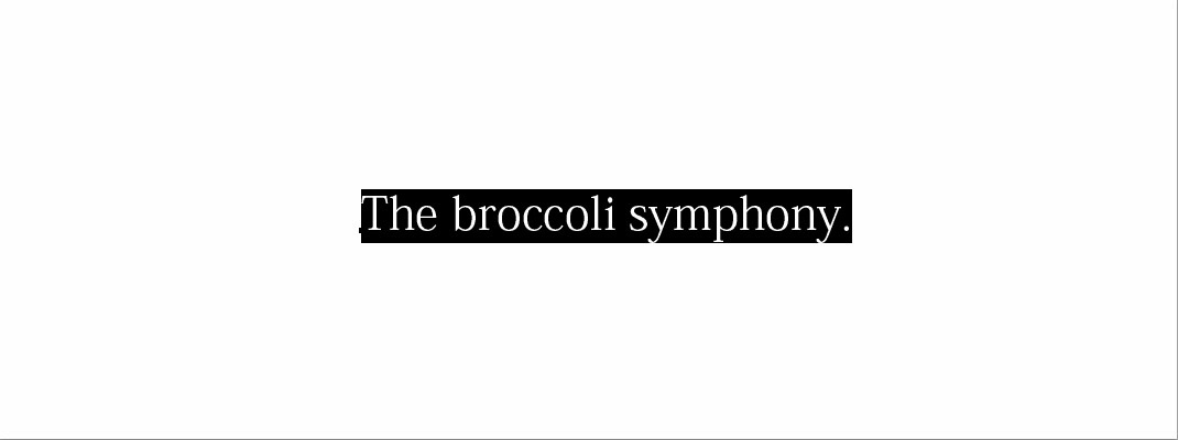The Broccoli Symphony