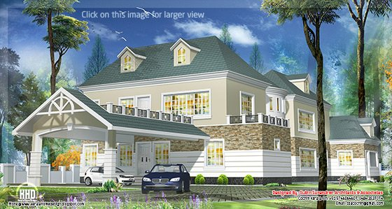Western style house in Kerala