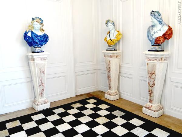 aliciasivert, Alicia Sivertsson, Rouen, France, Musée de la Céramique, normandy, frankrike, nomandie, museum, porslin, fajans, porcelain, bust, byst