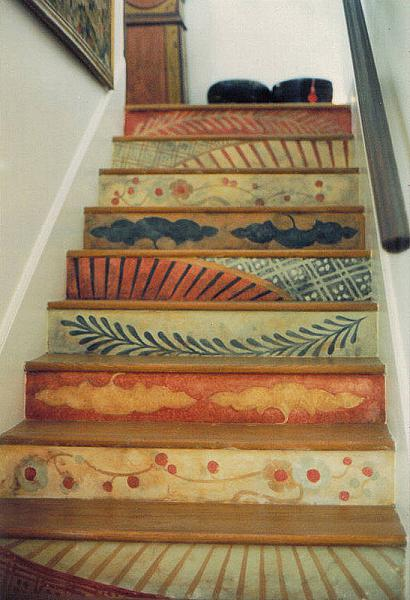 Dishfunctional designs intimate stairs painted for Painted stair treads