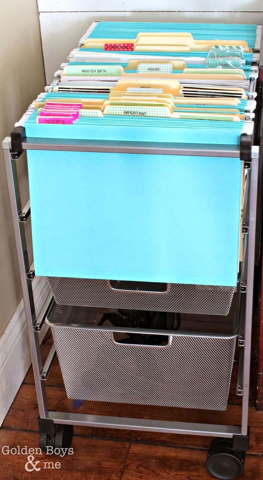 Elfa hanging file cart-www.goldenbobysandme.com