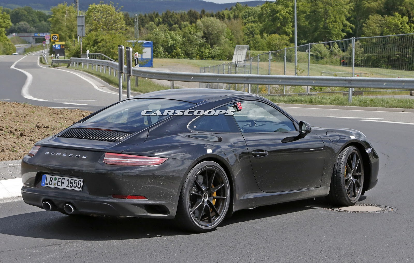 spied 2016 porsche 991 facelift finally shows its real. Black Bedroom Furniture Sets. Home Design Ideas