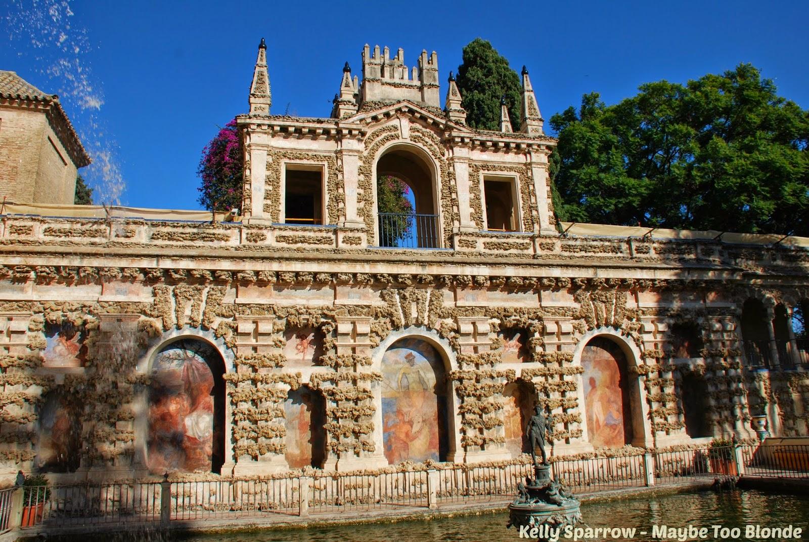 Mercury fountain Alcazar Spain