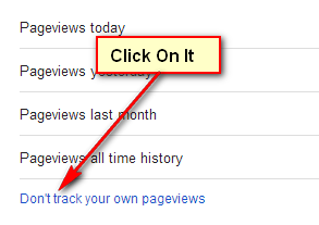 Click on Don't track your own pageviews