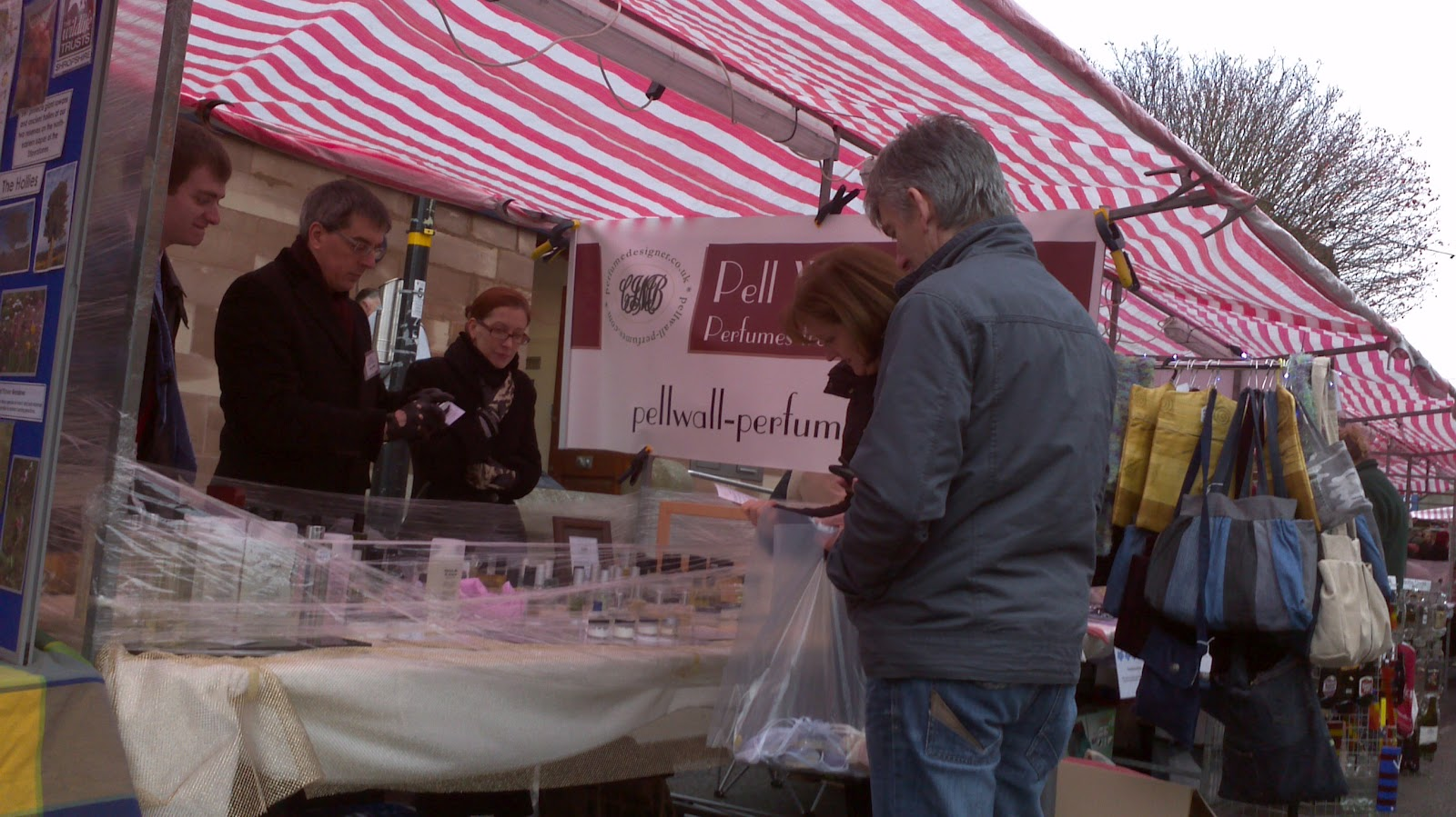 Pell Wall Perfumes at the November 2011 Farmer's Market in Market Drayton