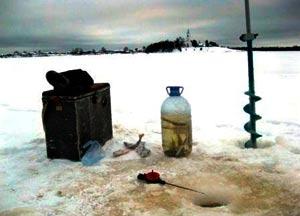 Снасть для ловли зимой на живца