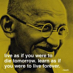 Mohandas ("Mahatma") Gandhi