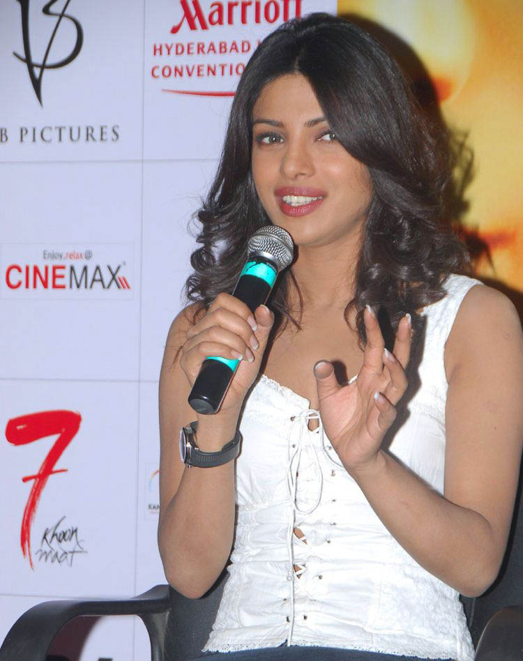 Priyanka Chopra Latest Hot Pictures In White Top