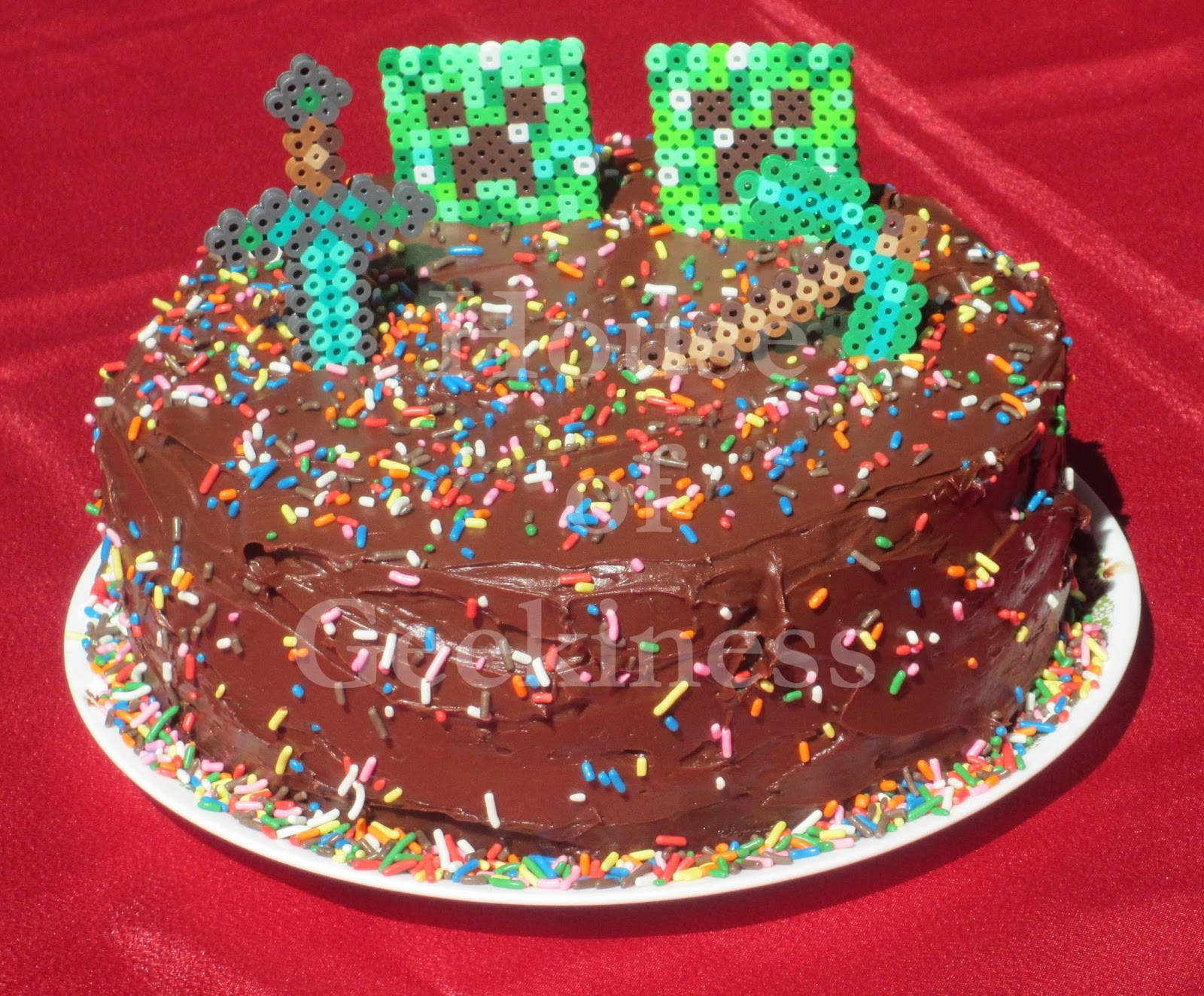 Minecraft Creeper, Sword, Pickaxe Cake Topper Or Cupcake Toppers