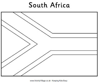 Activityvillage South Africa Flag Printables Htm
