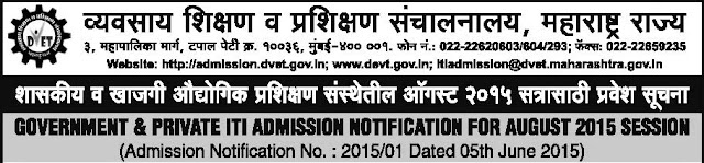 ITI Admission 2015 Online Application
