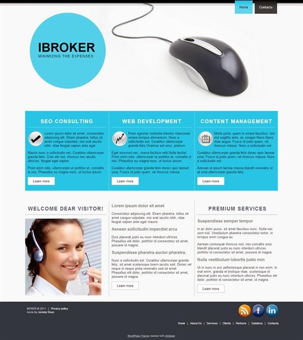 iBroker - Free Wordpress Theme
