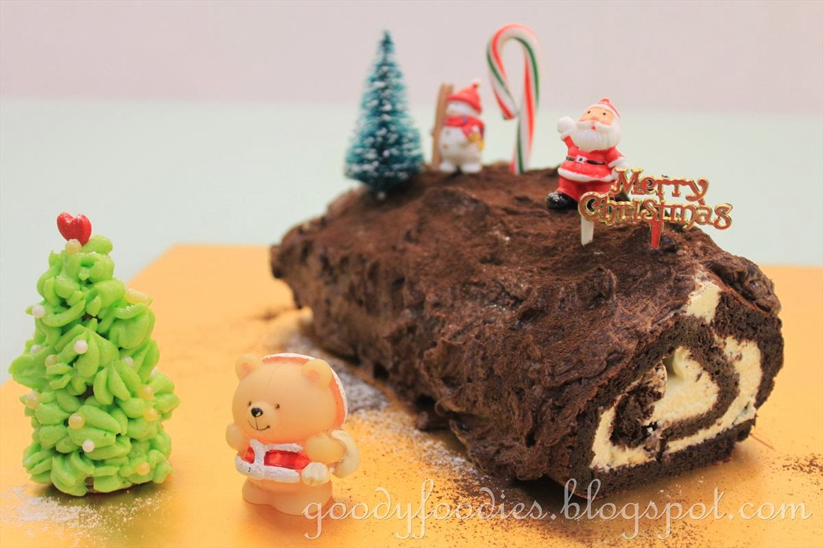 How to make a christmas yule log decoration - Recipe Christmas Chocolate Yule Log B Che De No L Merry Christmas 2013