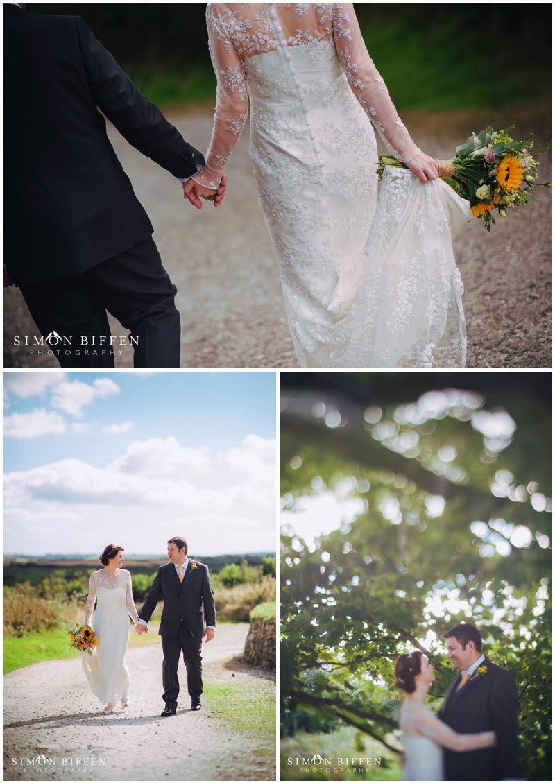 Bride and Groom portraits Trevenna Cornwall