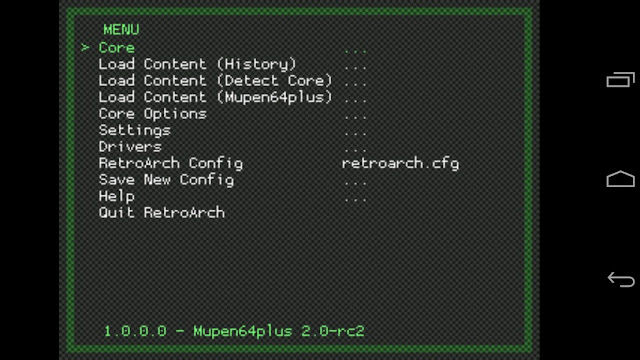 retroarch menu