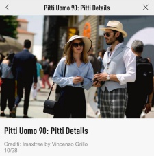 PITTI UOMO 90: PITTI DETAILS