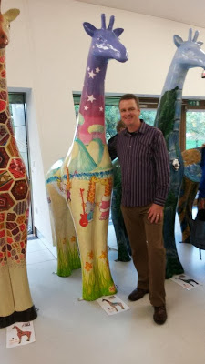 Nextra-terrestrial giraffe says farewell to Allan Hassell manager Clacton Outlet