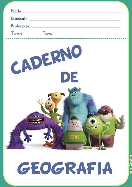 Capas para Caderno Universidade Monstros