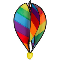 Hot Air Balloon Rainbow Striped Garden Spinner #ZcuttWindsock