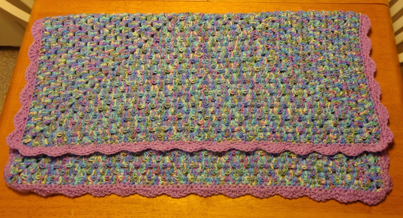 Hobby Hooker: Granny Square Baby Blanket with Scallop Edging