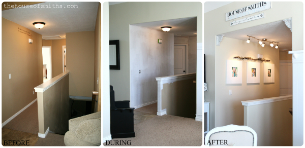 hallway track lighting. We Also Installed A Simple, Inexpensive Track Lighting Fixture From Ikea, To Better Lighten The Space And Highlight Large, Beadboard Frames That Hung Hallway