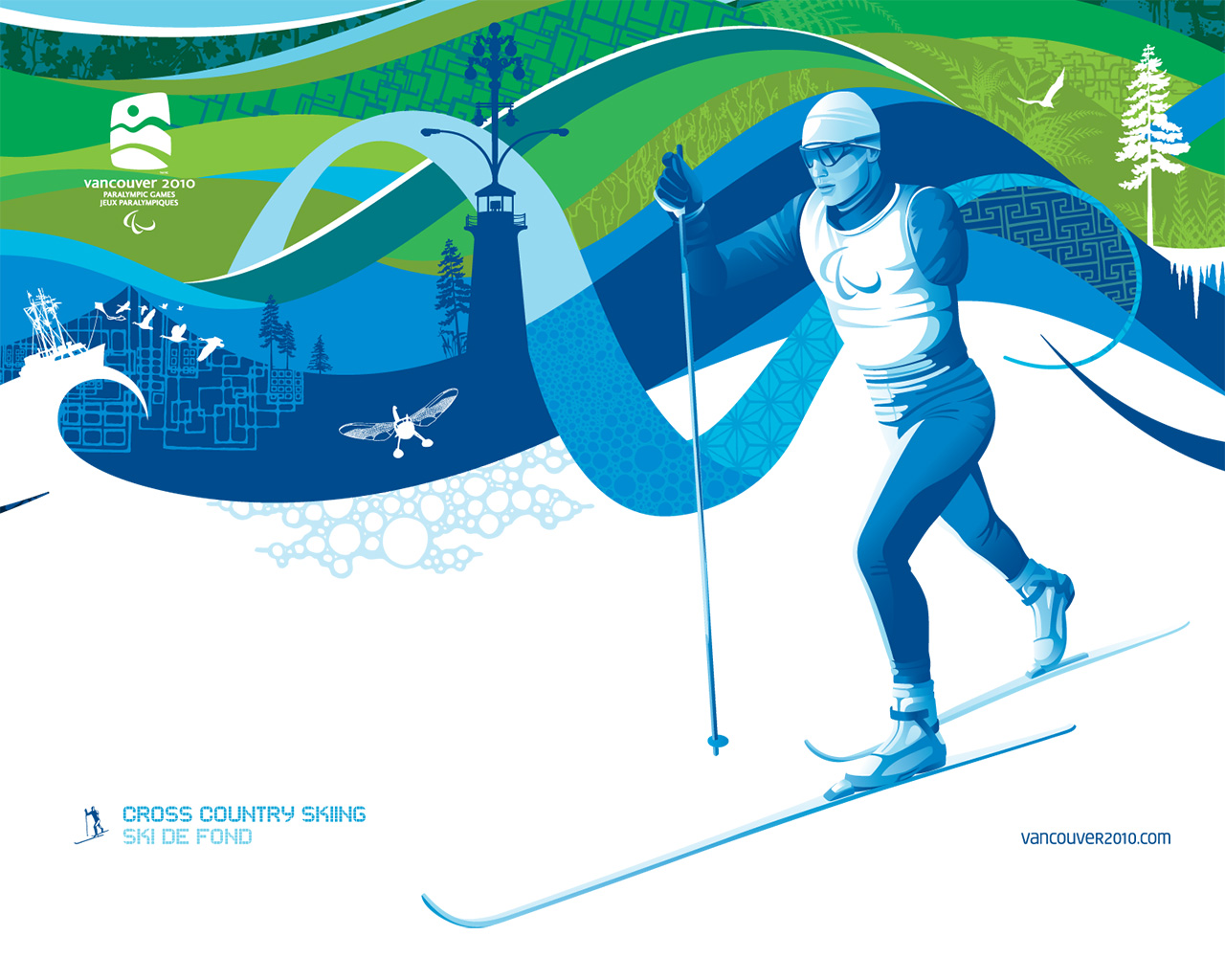 free vancouver 2010 olympic winter games powerpoint background 28