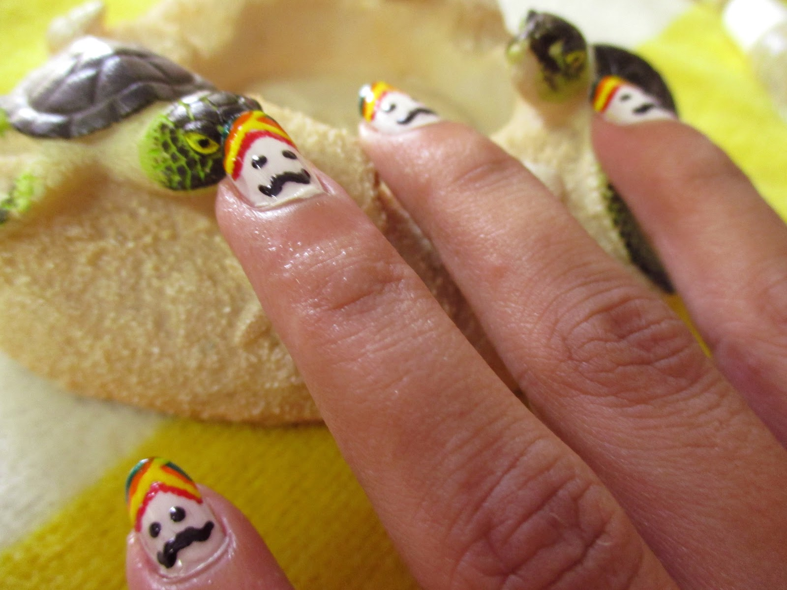 Style small world indian traditional men inspired easy nail indian rajasthani men wear colourful turban and it inspired me to do this nail artis is very easy and simple that beginners can easily paint it on their prinsesfo Image collections