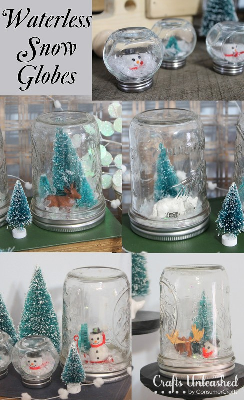 DIY Waterless Snow Globes with Kids