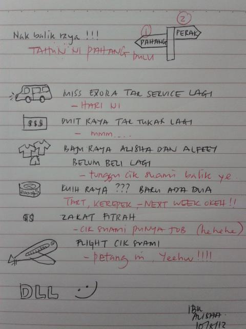Checklist persiapan raya