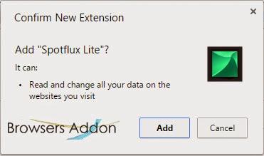 Spotflux-Lite-chrome-confirmation