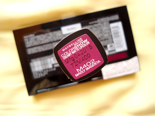Maybelline Color Show Creamy Matte Lipstick Madly Magenta Review Details
