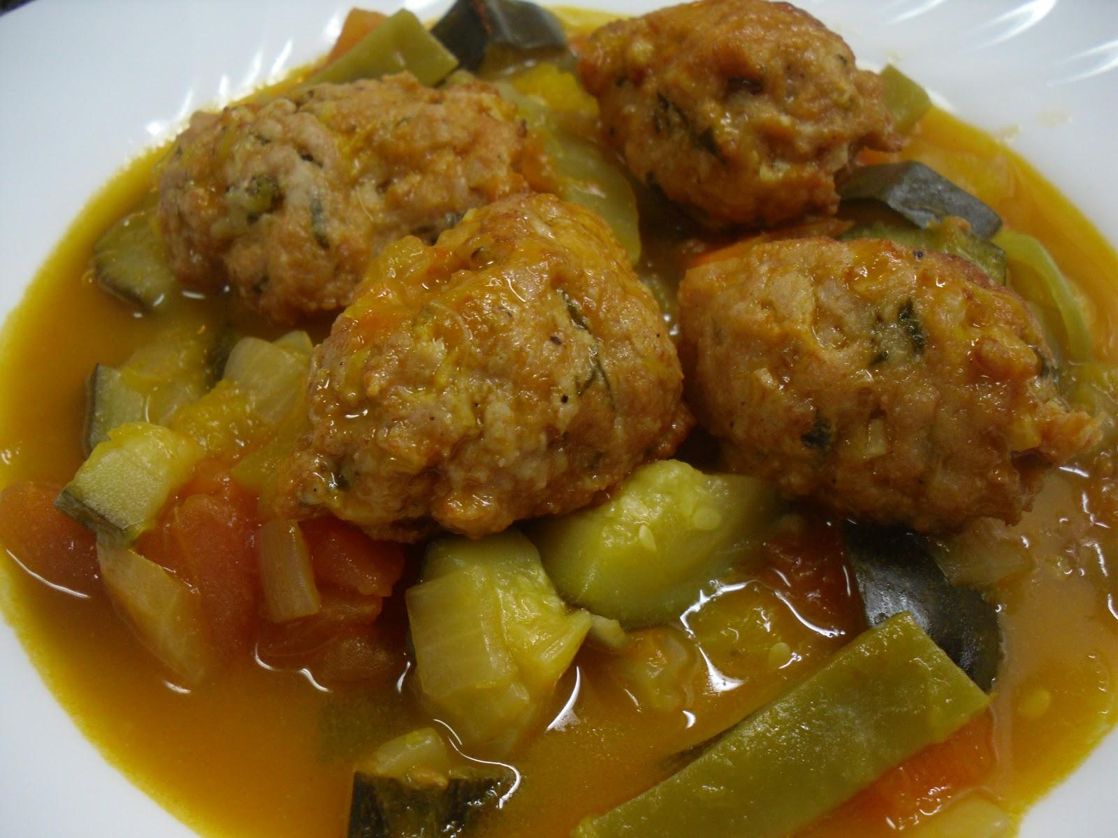 Guiso de verduras con albondigas de crucero con dukan - Albondigas de verdura ...