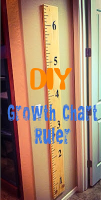 DIY Growth Chart Ruler for $15- Alohamora http://alohamoraopenabook.blogspot.com/