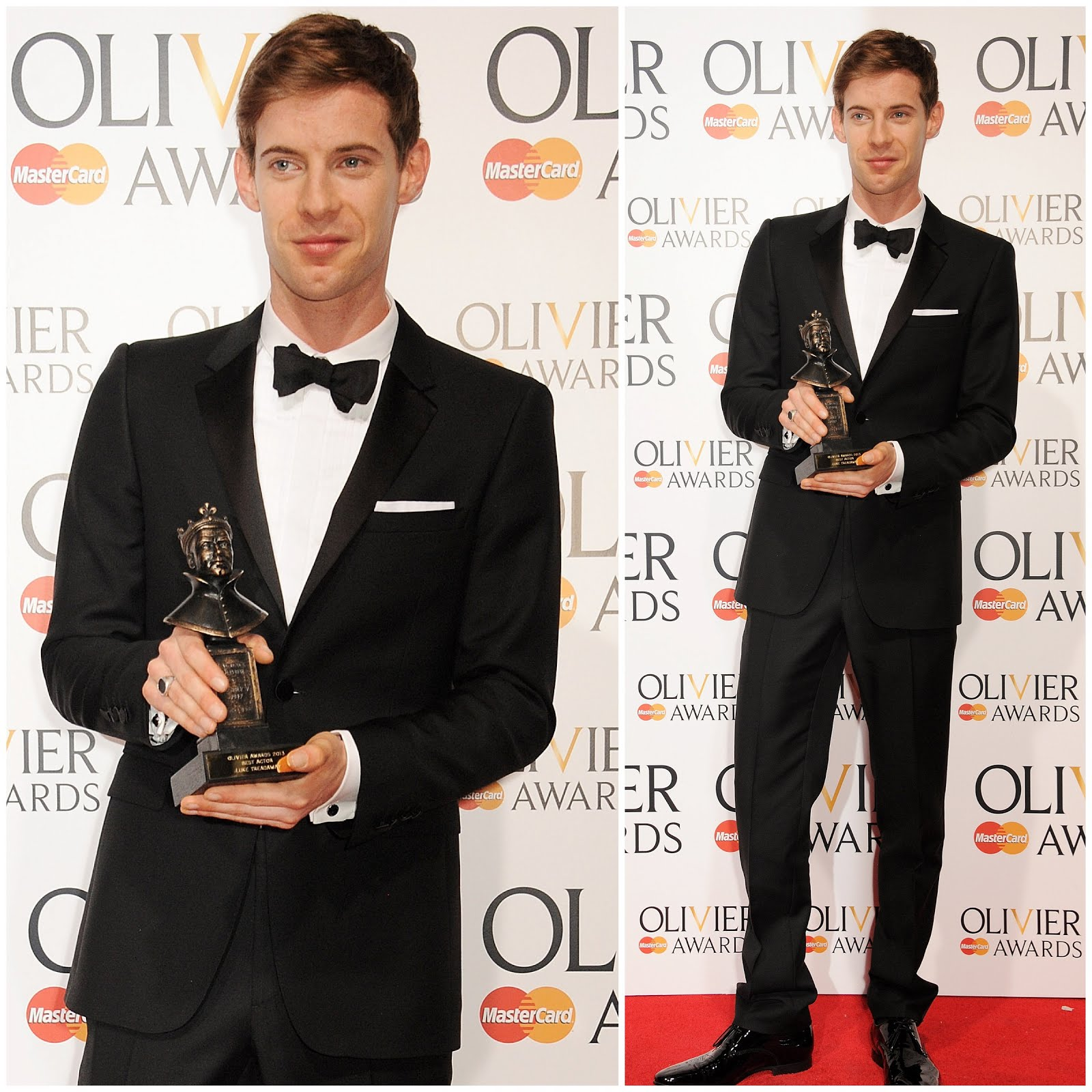 00O00 Menswear Blog: Luke Threadaway in Burberry Tailoring - 2013 Lawrence Olivier Awards London April 2013