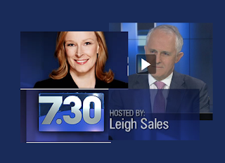 Leigh Sales and Malcolm Turnbull, PM