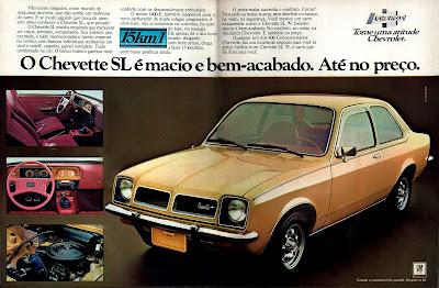 propaganda Chevette SL - 1978