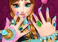 Disney Frozen Anna nails spa